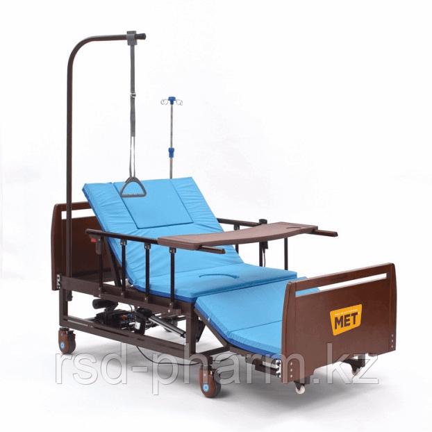 Комплект медицинской кровати MET REVEL NEW с электрорегулировками, переворотом и туалетом