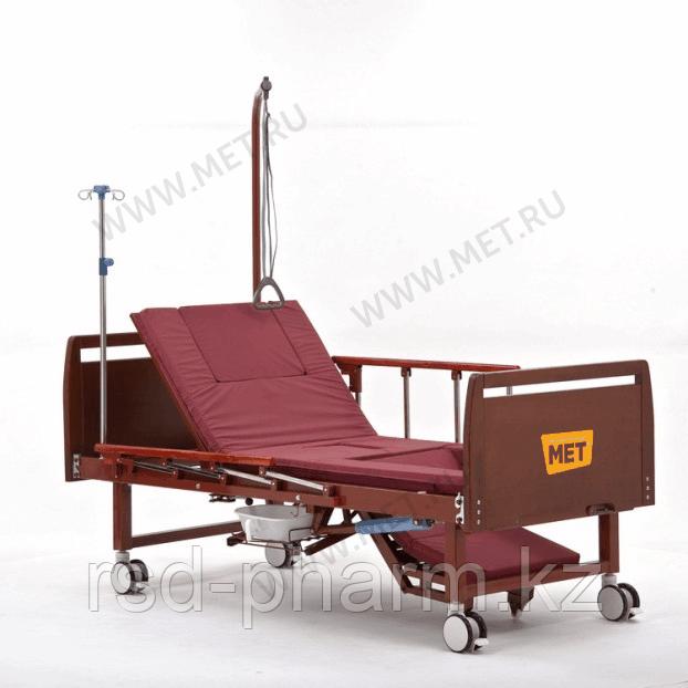 Комплект медицинской кровати MET EMET с электроприводом, с положением кардиокресло, с туалетом