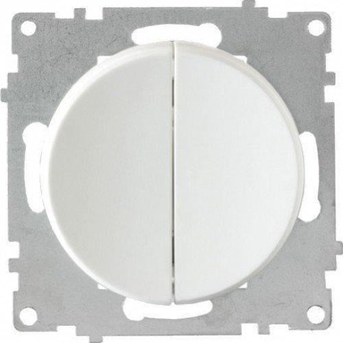 Выключатель двойной (серия Florence) (Цвет белый)