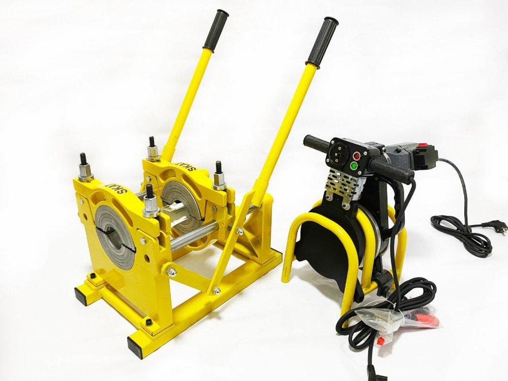 Купить SKAT 63-160мм с 2мя держателями рычаговый, механический сварочный аппарат для стыковой пайки ПП труб