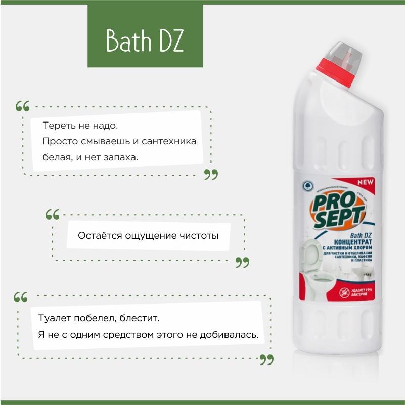 108-075 Bath DZ(БАС ДЗ) средство для уборки дезинфекции санитарных комнат. Концентрат(1:8-1:100) 750 ml