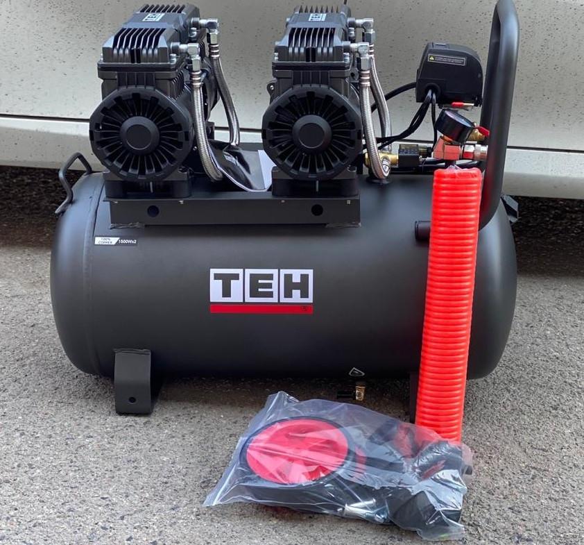 Купить ТЕН 3квт, 50л,420л/мин, бесшумный, безмасленный, воздушный компрессор