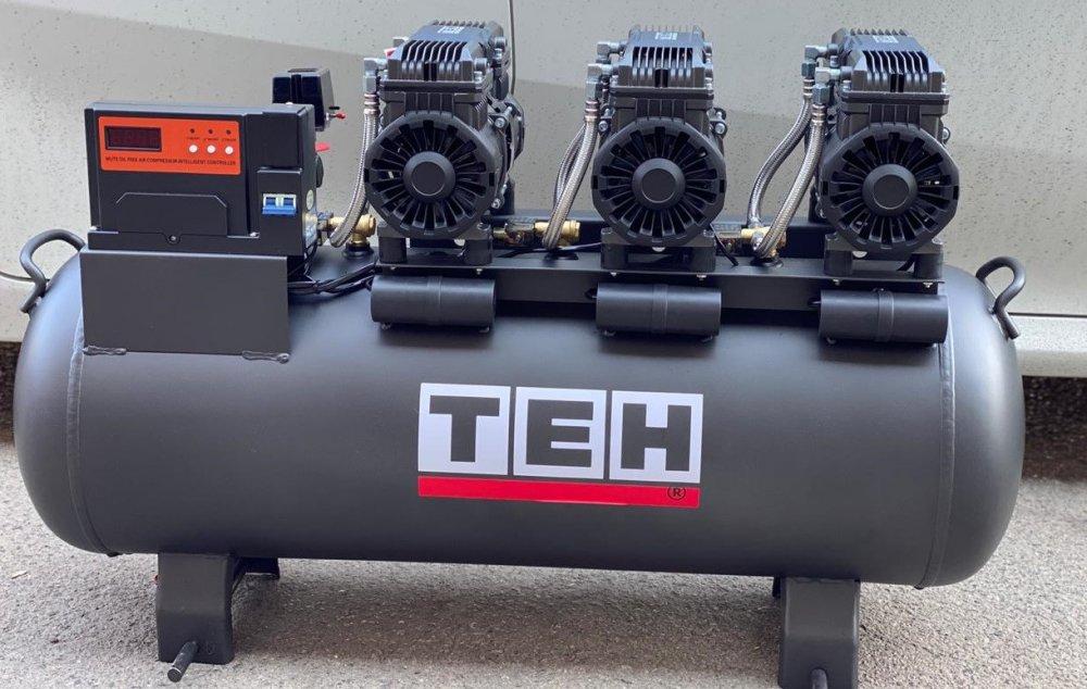 Купить ТЕН 4,5квт, 100л, 600л/мин, бесшумный, езмасленный, воздушный компрессор