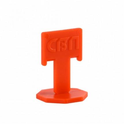 """Купить СВП Зажим """"Флажок"""" 1,4 мм, оранжевый 100 шт. пакет (20 пак/короб) ТНВЭД 3926300000"""