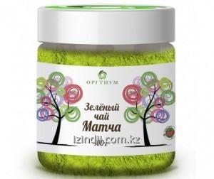 Зеленый чай матча 2 в 1, 100 гр, Оргтиум, с сахарной пудрой,  улучшения сердечно-сосудистой системы