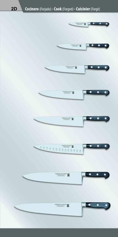 Нож шеф-повара кованый