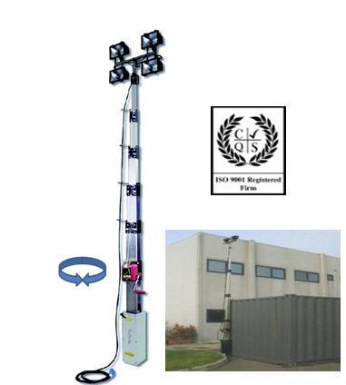 Осветительная мачта TowerLight, Италия,  Модель CTF5.5 м / 7.0 м / 9.0 м