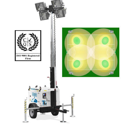 Осветительная мачта TowerLight  Италия, Модель VT8, Оборудование осветительное, Световая мачта