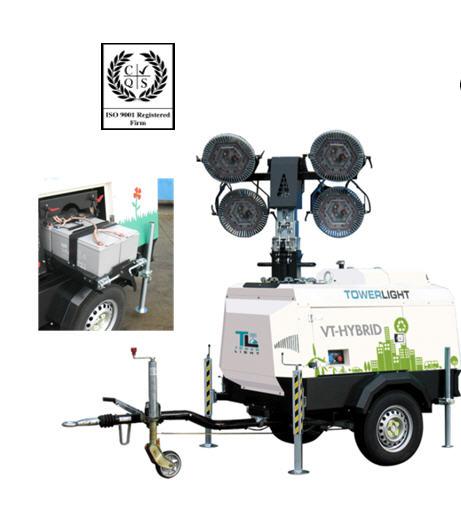 Осветительная мачта Tower Light , Италия Модель VT 1 HYBRID,  Системы освещения автономные, световое оборудование, Световая мачта