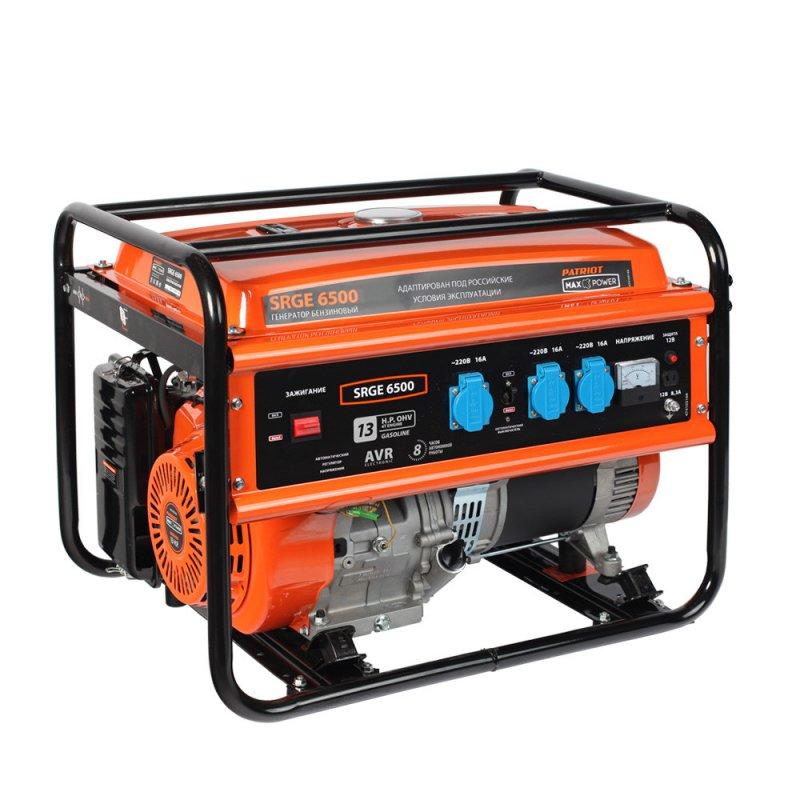 Купить PATRIOT Генератор бензиновый PATRIOT Max Power SRGE 6500