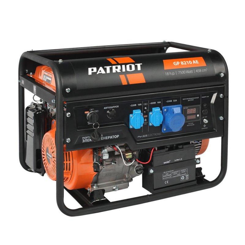 Купить PATRIOT Генератор бензиновый PATRIOT GP 8210AE