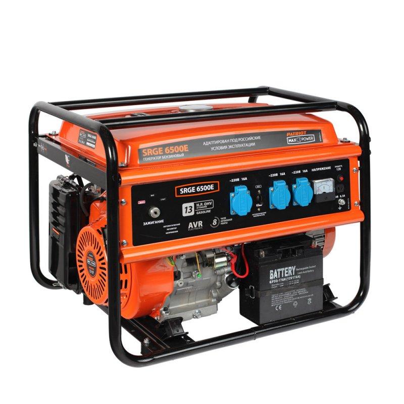 Купить PATRIOT Генератор бензиновый PATRIOT Max Power SRGE 6500E