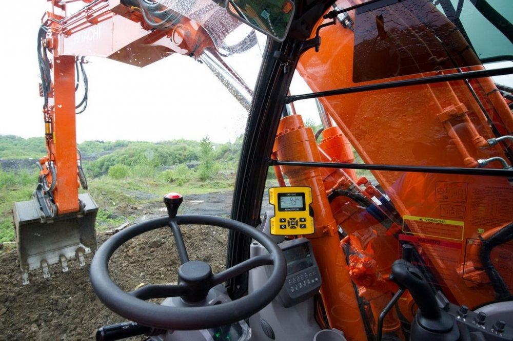 Системы нивелирования для экскаватора MOBA,   Системы нивелирования дорожной техники