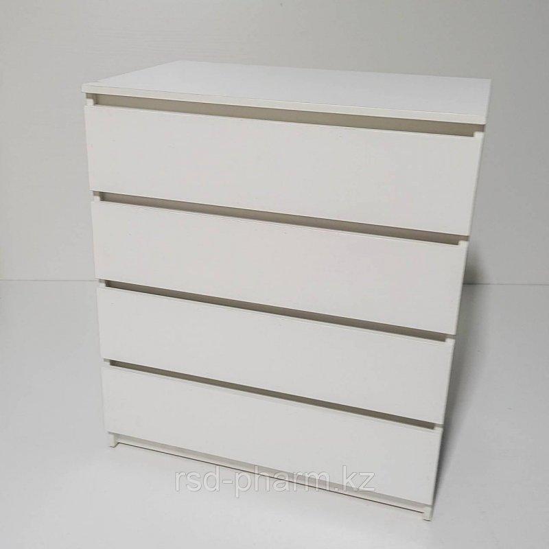 Комод я 4 ящиками (Белый текстурный)