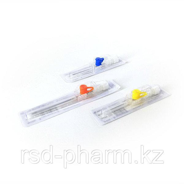 Катетер/канюля внутривенный периферический Bioflokage Budget c инъекционным клапаном р.24G