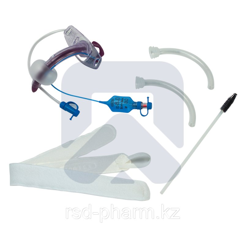 """Трахеостомическая трубка Blue Line Ultra 7,5 мм с манжетой """"Софт Сеал"""", каналом для санации надманжеточного"""