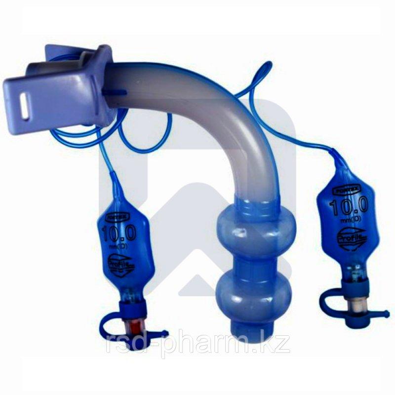 Трахеостомическая трубка 15мм коннектор с 2 мя манжетами низкого давления и высокого обьема 7,5 мм