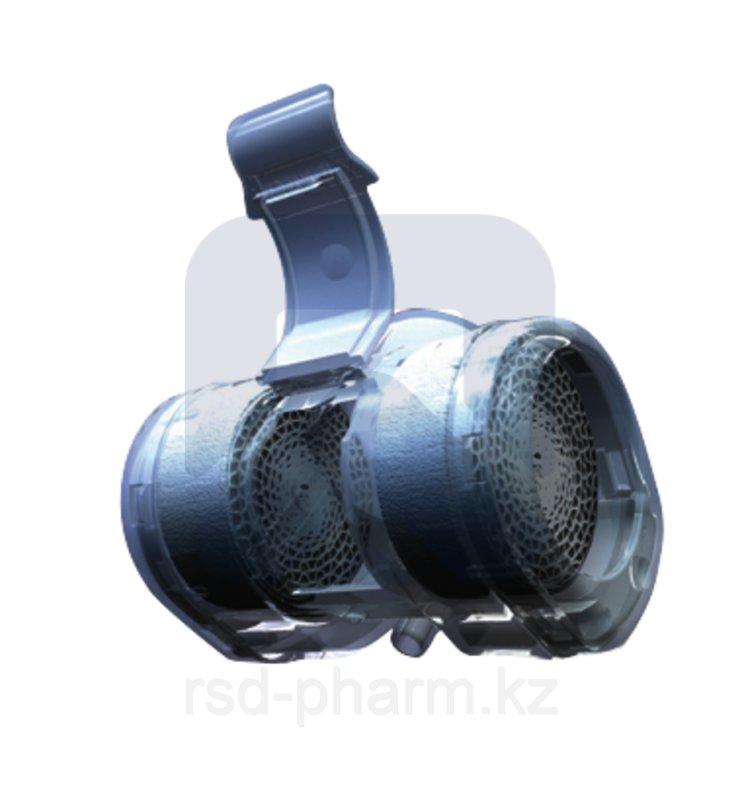 """Термовент Т2 дыхательный для трахеостомической трубки - """"искусственный нос"""" с портами для О2 и санации"""