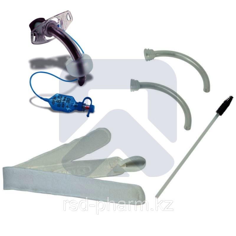 Трахеостомическая трубка Blue Line Ultra 9,0 ммс манжетой, в наборе с двумя внутренними канюлями