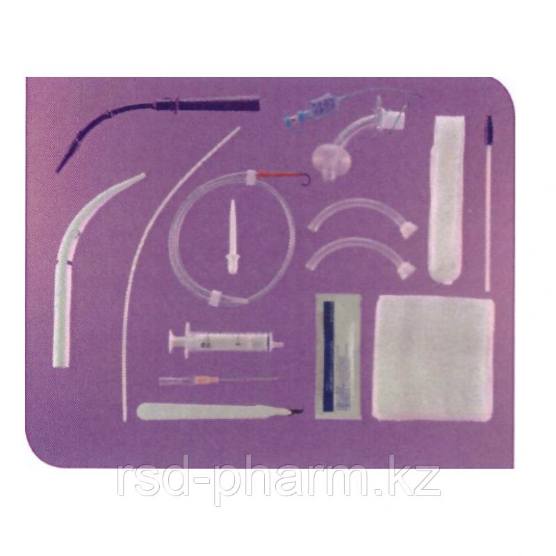 Набор для чрезкожной трахеостомии Ultra Perc c трахеостомической трубкой Blue Line Ulnra 7 мм и