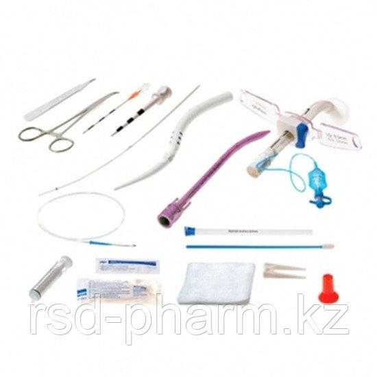 Набор для чрезкожной трахеостомии UniPerc 8,0мм с трахеостомической трубкой с регулируемым положением фланца