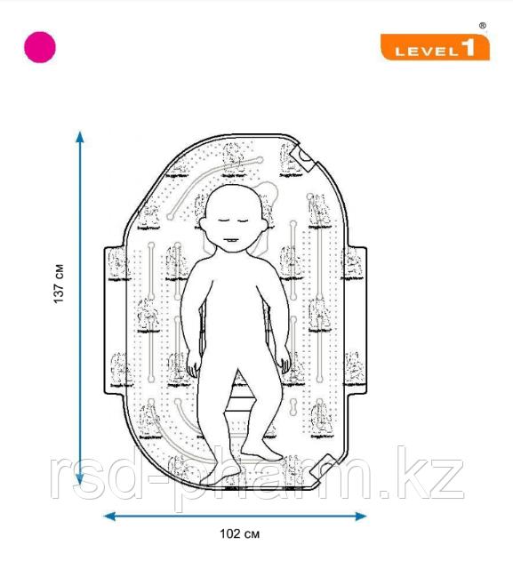 Одеяло Snuggle Warm, подкладное детское, нестерильное, большое - 101.6 cm W x 137.1 cm L