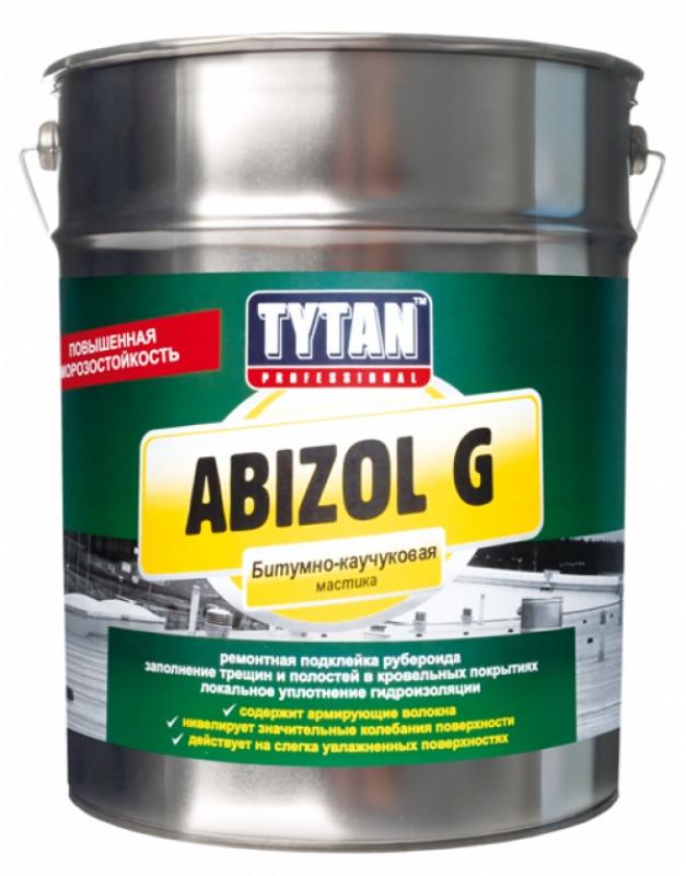 Купить TYTAN ABIZOL G Битумно-каучуковая мастика, черная 5 кг