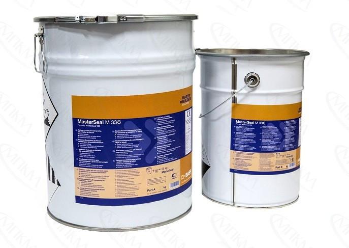 Купить MasterSeal М 338 Comp. В— Двухкомпонентное жесткое эпоксидное покрытие на водной основе для гидроизоляции и з