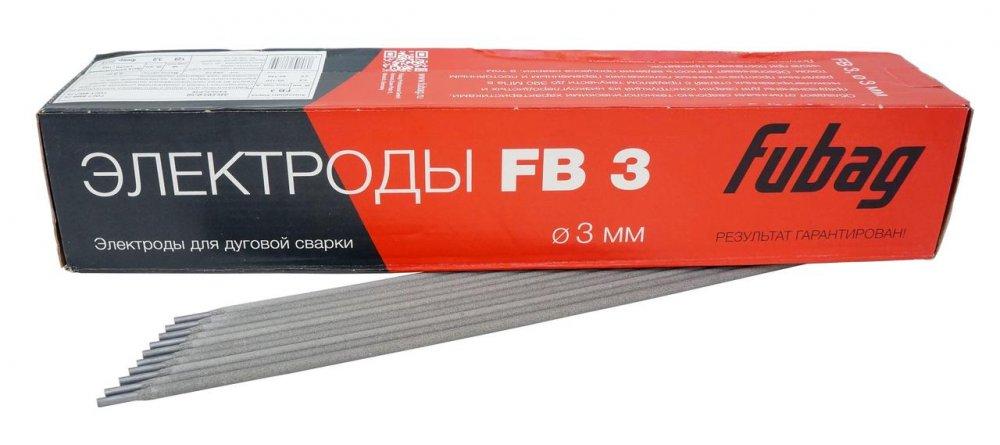 Купить FUBAG Электрод сварочный с рутиловым покрытием FB 3 D3.0 мм (пачка 5 кг)