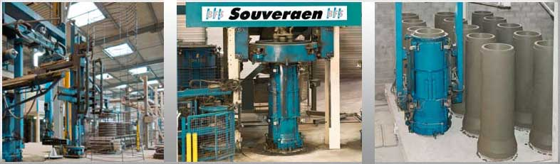 Buy Equipment for production of reinforced concrete pipes, rings and their SOUVERAEN elements, Equipment for production of reinforced concrete