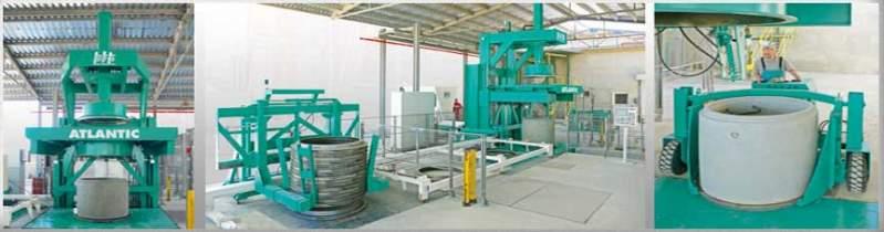 Купить Оборудование для производства железобетонных труб, колец и их элементов ATLANTIC, Оборудование для производства железобетона