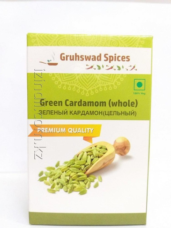 Зеленый кардамон цельный 50 гр, Gruhswad Spices