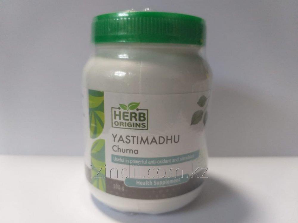 Яштимадху чурна, 100 гр, Herb Origins, монокомпонентный препарат комплексного действия