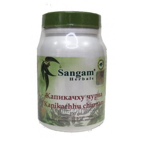 Капикачху чурна, 100 гр, Sangam Herbals,эффективна при болезни Паркинсона