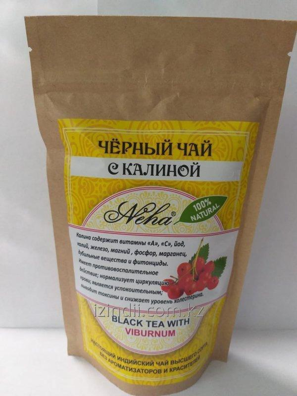 Черный чай с калиной, 100 гр, Neha