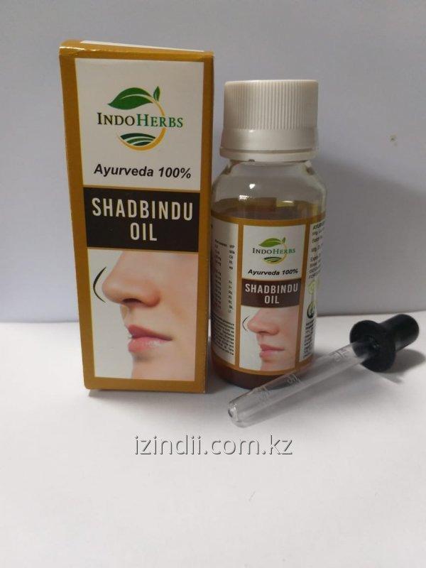 Масло Шадбинду , 50 мл, при хроническом и остром гайморите, Shadbindu oil INDOHERBS