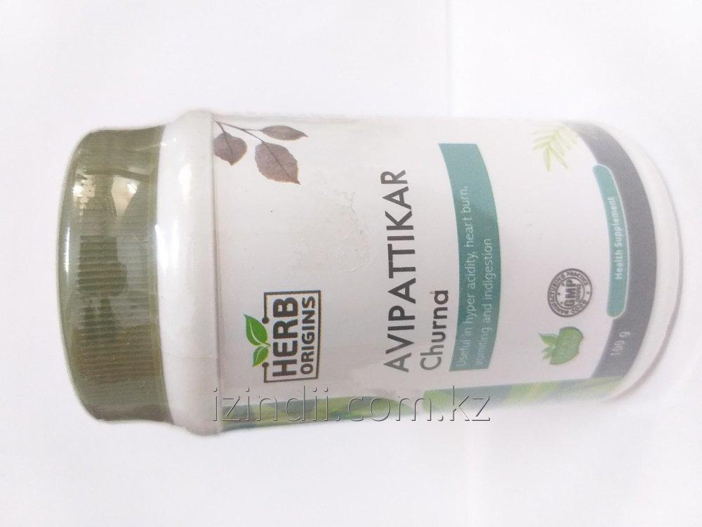 Авипаттикар чурна, 100 гр, Herb Origins, от повышенной кислотности