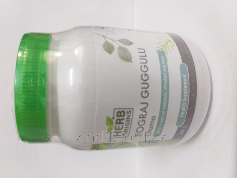 Йогарадж гуггул чурна, 100 гр, Herb Origins, лечение суставов от воспаления и отеков