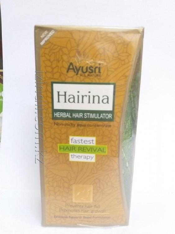 Натуральный тоник для волос Хайрина 120 мл, Ayusri Hairina Herbal Hair Stimulator