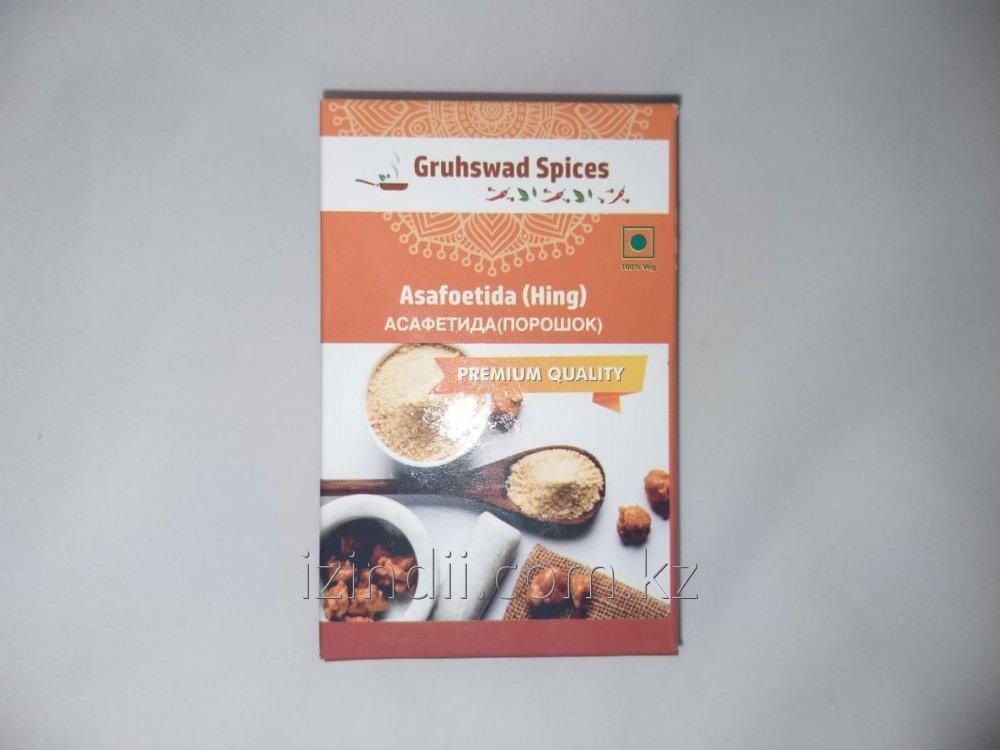 Асафетида Хинг, (Asafetida Hing) , порошок, 50 гр, Gruhwad Spices