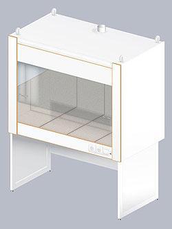 Купить Шкаф вытяжной для муфельных печей ЛАБ-1600 ШВП (керамическая плитка)