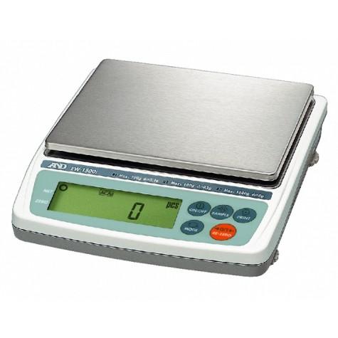 Купить Весы EW-1500I (300/600/1500г Х 0.1/0.2/0.5г; внешняя калибровка), AND