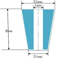 Купить Пробка силиконовая №24 (конусная, с каналом, D=24/30мм, H=42мм)