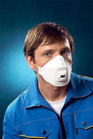 Купить Респиратор 3М 9332 (защита от аэрозолей, пыли; полумаска с клапаном выдоха)