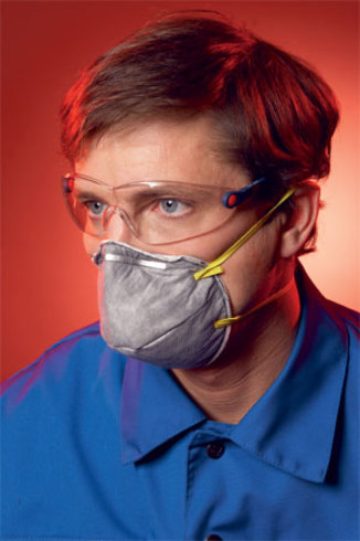 Buy Respirator 3M 9913 (protection against aerosols, org. vapors; a half mask without exhalation valve)