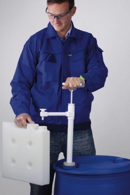 Купить Насос для бочек ULTRAPURE (ПТФЭ), глубина погружения=950мм, D трубки=32ММ, 400 мл/такт, BURKLE № 5606-1000