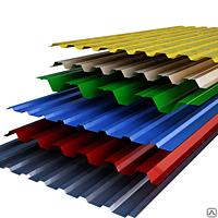 Купить Профнастил с полимерным покрытием глянец ,толщина 0,45 - Н8,Н12, Н21, Н27, Н35.