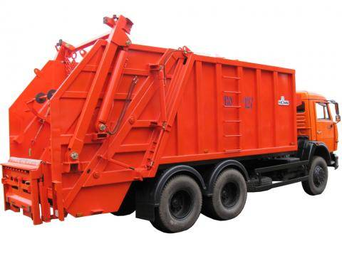Buy The garbage truck with back loading of KO-427 (the KAMAZ-53215 chassis or-53229 6х4)