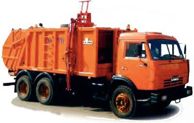 Buy The garbage truck with side loading of KO-415A (KAMAZ-53215 chassis 6х4)