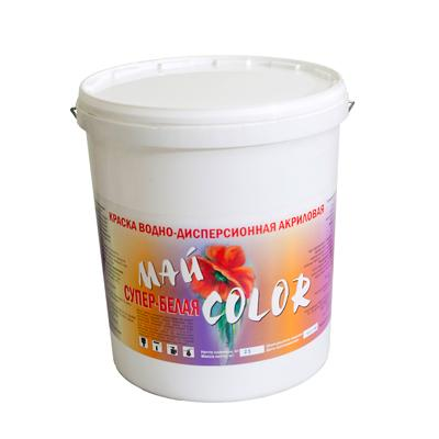 Краска акриловая водоэмульсионная СУПЕР - БЕЛАЯ белая полуглянцевая моющаяся 15 кг